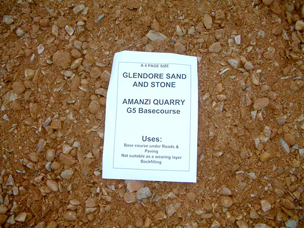 Amanzi Quarry G5 Basecourse